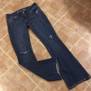 American Eagle distressed artist jeans size 2